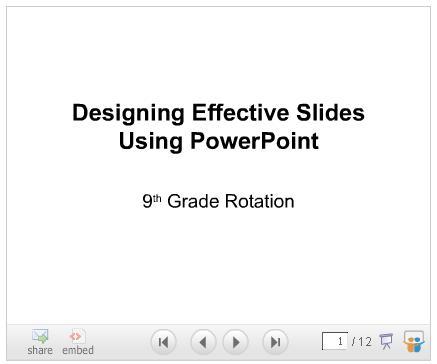 Designing effective powerpoint slides